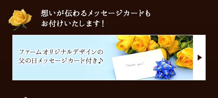 想いが伝わるメッセージカードもお付けいたします!