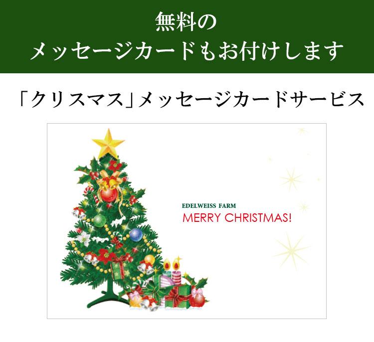 【無料クリスマスカード】メッセージカード付き