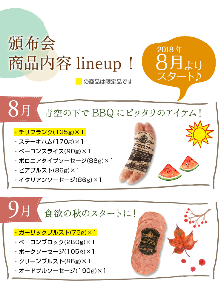 頒布会商品内容ラインナップ!
